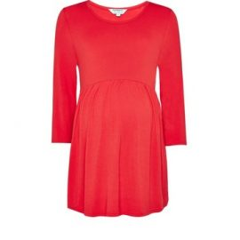 Womens Dp Maternity Red Nursing Smock Tee