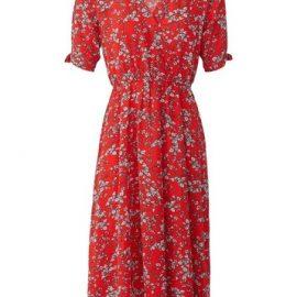 Womens *Izabel London Red Floral Print Wrap Dress