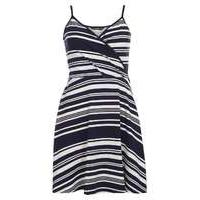 Womens Navy and ivory wrap cami dress- Blue - Dorothy Perkins Nursing Clothes