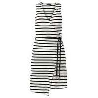 Womens Navy stripe wrap dress- White - Dorothy Perkins Nursing Clothes