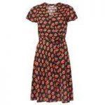 Womens Petite Floral Wrap Dress- Black - Dorothy Perkins Nursing Clothes