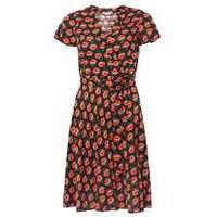 Womens Petite Floral Wrap Dress- Black - Dorothy Perkins Nursing Clothes
