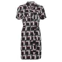 Womens Pink Geo Zip Front Shirt Dress- Black - Dorothy Perkins Nursing Clothes