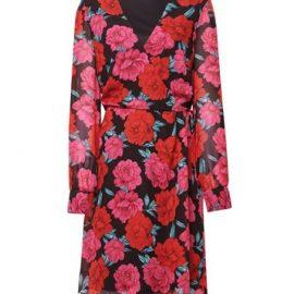 Womens **Tall Pink Floral Print Wrap Dress