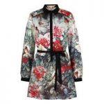Yumi Bird and Floral Print Shirt Dress