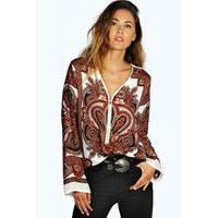 Zip Paisley Tunic - multi - boohoo.com Nursing Clothes